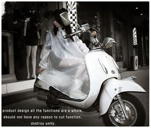 足下までスッポリ♪自転車・原付バイク・スクーターに最適!サイクルレインコートフリーサイズレディース/バイク自転車用レインウェアレインコートポンチョカッパ雨具
