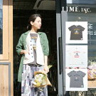 【メール便可】LimeincライムスラブTシャツM〜L/服レディース女性大きいサイズ北欧洋服限定おしゃれファッションセール価格限定ナチュラルカジュアルクローバー02P09Jan16