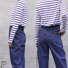 LARUラルー/ボーダーロングスリーブカットソー/長袖カットソートップス/MLLL3L4L5L/レディース大きいサイズ洋服おしゃれファッションセールカジュアル通販楽天かわいい女性クローバー
