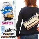 CARRIC(キャリック)男女兼用タイプ2wayボディバッグ