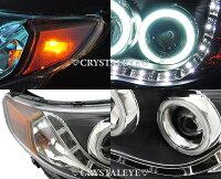 CBA/SH9/フォレスター/LED/CCFL/イカリング/プロジェクター/ヘッドライト/アウディタイプ/ブラック