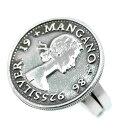 シルバー925 エリザベス2世 コイン リング メンズ c2 フリーサイズ(指輪 旧通貨 古銭 イギリス アンティーク 顔 UK レディース)