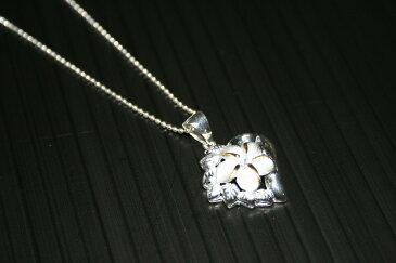 【激カワ!!】プルメリア ハート ペンダント ネックレス(PINK)