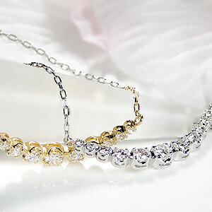 pt900【0.3ct】ダイヤモンドラインネックレス