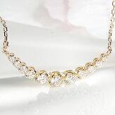 K18YG【0.3ct】ダイヤモンドラインネックレス