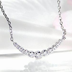 pt900【0.2ct】ダイヤモンドラインネックレスペンダント
