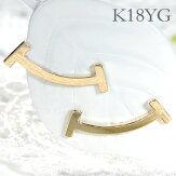 K18YG地金スマイルピアス