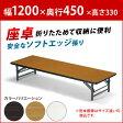 会議用テーブル 折りたたみテーブル 会議テーブル 座卓 幅1200×奥行450 (品番:TZ-1245SE)