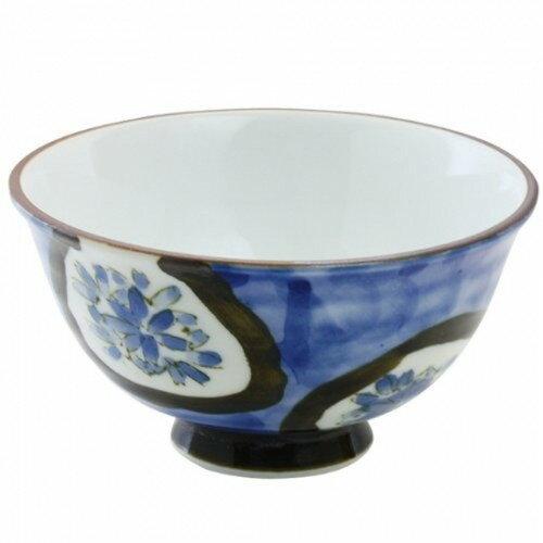 茶碗 : 有田焼 染付濃小花 軽々茶碗(大)