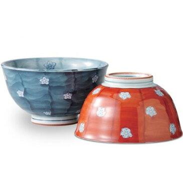 茶碗 : 有田焼 内外濃梅 ペア茶碗
