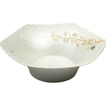 皿 おしゃれ モダン : 有田焼 ラスター枝桜 六角菓子鉢 /No:728030