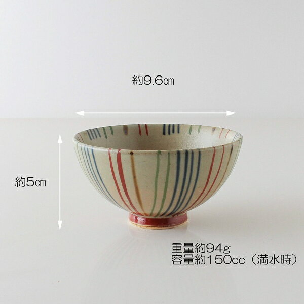 波佐見焼 茶碗 / 飯碗 錦十草 ミニ 約φ 10cm xH 5cm 150cc