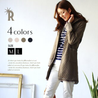 * REAL CUBE high quality polished シルケットキルティングコート / long type (70799 YU) and real cube Womens coat