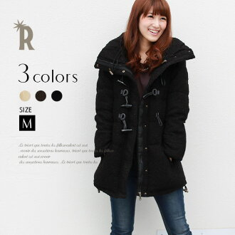 * REAL CUBE ダッフルブークレー knit down (70699 YU) and ladies coats and down coat * special price for the returned goods and cannot be exchanged.