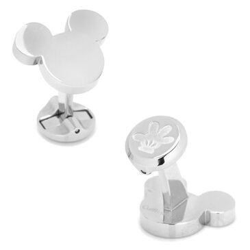 Disney ミッキーマウス ステンレススチール シルエット カフス カフリンクスメンズアクセサリーの通販ギフト プレゼント お祝い 結婚式 ビジネス 新生活 父の日 彼氏 夫 バレンタイン