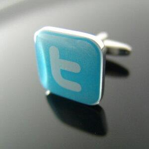 今話題のTwitterのロゴをあしらったカフリンクスカフス Twitter ツイッター ! カフスボタン カ...