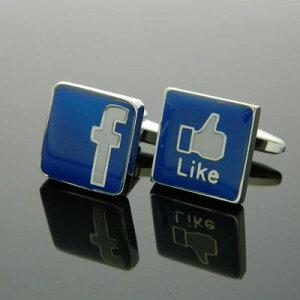 アクセス数がgoogleを抜いて話題に!【国際メール便】フェイスブック Facebook カフス カフスボ...