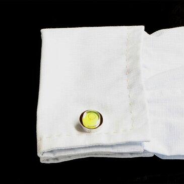 鎌倉カフス工房 水準器(黄色)カフスボタン・カフリンクス メンズ cf810