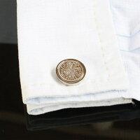 鎌倉カフス工房イギリス6ペンスコインカフスボタン・カフリンクスメンズdc004