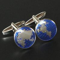 【エリザベスパーカー】世界地図カフス【カフリンクス・カフスボタン】