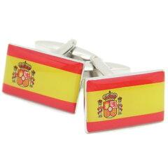 【レビューで送料無料】Buenas・tardesスペイン国旗のカフス(カフリンクス/カフスボタン)【あす楽対応】【楽ギフ_包装選択】【楽ギフ_メッセ入力】【父の日】