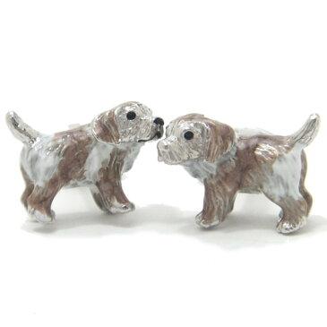 米国 ブランド ご主人様に可愛く甘える子犬のカフス jl22 誕生日 プレゼント おしゃれ カフスマニア