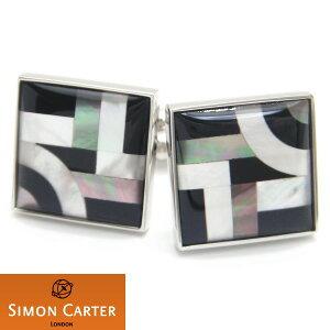 カフス サイモンカーター 英国 ブランド SIMON CARTER BAUHAUSライン模様 カフス カフスボタン カフリンクス cufflinks cuffs メンズ 男性 スーツアクセサリー専門店 父の日 ギフトにも 誕生日 プレゼント プチギフト おしゃれ カフスマニア