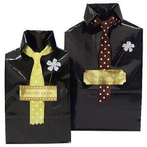男性への贈り物にビジネスシャツのラッピング