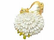 パルナートポック ブローチ クイールキャラメリゼ アニマル タンポポ プレゼント キャット ジュエリー フラワー アクセサリー