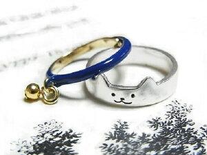 ネコ リング『トムキャット ピンキーリング』(ブルー)【Luccica/ルチカ】猫 ネコ 送料無料 シンプル セット 指輪 アクセサリー ユニーク 可愛い サイズ 動物 アニマル 個性的 レディース 人気 かわいい カラフル 誕生日 プレゼント ラブリー おもしろ 女 クリスマス