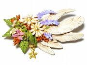 パルナートポック ブローチ オリンポス ブラフシューペリア フラワー コサージュ アクセサリー ジュエリー プレゼント ブライダル エレガント