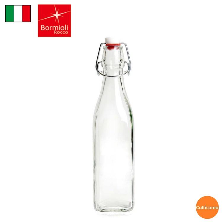 ボルミオリ・ロッコ スイング ボトル 3.14730 0.25L RBR-51[関連:BormioliRocco イタリア ブランド ガラス 保存容器 ドレッシング ウォーター 果実酒]