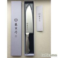 藤寅作オールステンレス三徳包丁(両刃)FU-895