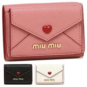 [Return] OK MIU MIU Wallet Ladies MIU MIU 5MH021 2BC3 Madras LOVE MADRAS LOVE