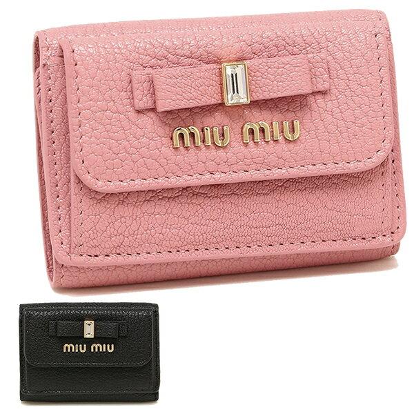 【返品OK】ミュウミュウ 折財布 レディース MIU MIU 5MH021 2D7A マドラス MADRAS