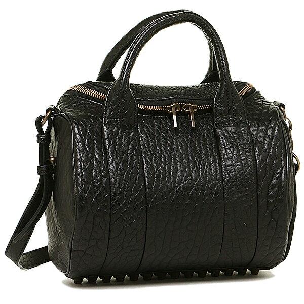 アレキサンダーワン バッグ ALEXANDER WANG 205242 001 ROCKIE ボストンバッグ LAMBSKIN BLACK/ANTIQUE BRASS:ブランドショップ AXES