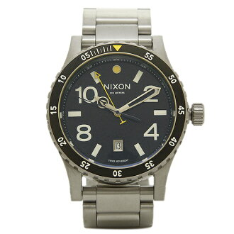 Nixon NIXON watch watches mens Nixon watch women's / men's NIXON A277000 DIPLOMAT SS watch silver / black