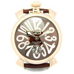 ガガミラノ 時計 メンズ GAGA MILANO 5011.01S マヌア−レ 48MM 腕時計 ウォッチ ブラウン/ピンクゴ−ルド【楽ギフ_包装】【ブランド】【RCP】【5,400円以上で送料無料】【通販】【父の日ギフト】