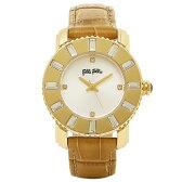 フォリフォリ FOLLI FOLLIE 時計 腕時計 フォリフォリ 腕時計 レディース FOLLI FOLLIE WF5G115SPSSC ラウンド ジルコニア 腕時計 ウォッチ ライトブラウンGPシルバー