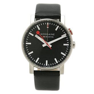 Mondaine MONDAINE watch watches mens Mondaine watch ladies / mens MONDAINE A468.30352.14SBB EVO ALARM watch watch black