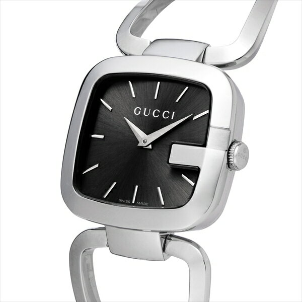 33bb25ac21f Watches are had by GUCCI Gucci! The watch of the bangle type that a round  face is pretty. A brand appeals to a clockface in GG logo.