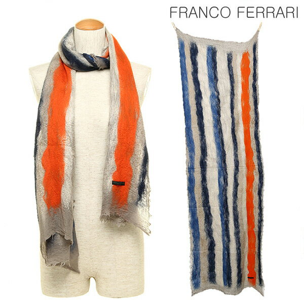 フランコフェラーリ FRANCO FERRARI フランコフェラーリ ストール FRANCO FERRARI 13840 R2418 ACHILLE 70×195 カシミア50%/ウール50% マフラー:ブランドショップ AXES