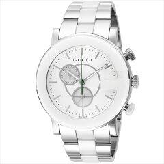 グッチ GUCCI 時計 腕時計 メンズ YA101345 Gクロノ ウォッチ シルバー/ホワイト【new0210】【楽ギフ_包装】【ブランド】【RCP】【5,400円以上で送料無料】【通販】【父の日ギフト】