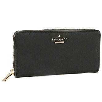 Kate spade KATE SPADE wallets purse Kate spade purse KATE SPADE PWRU4094 001 CLASSIC NYLON LACEY long wallet BLACK