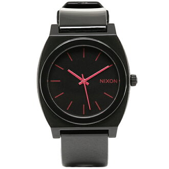 NIXON Nixon A119480 A119-480 THE TIME TELLER P time teller p BLACK/BRIGHT PINK black and bright pink watch and Womens and mens watches