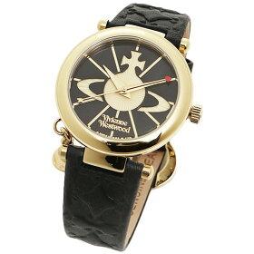 ヴィヴィアン腕時計ヴィヴィアンウエストウッドVV006BKGDブラックゴールド