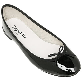 Repetto ballet shoes ballet shoes repetto shoes flat shoes Bebe V086V BB CENDRILLON Cendrillon Vernis Vernis Berni women 410 black