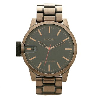NIXON Nixon A198872 A198-872 THE CHRONICLE Chronicles ANTIQUE COPPER BLACK antique copper / Black Watch and Womens and mens watches