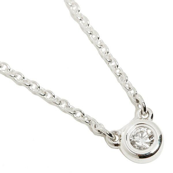 ティファニー TIFFANY & Co. ネックレス ティファニー ネックレス TIFFANY&Co. 24944395 ダイヤモンドバイザヤード 16IN ペンダント シルバー:ブランドショップ AXES