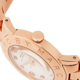 マークバイマークジェイコブスMARCBYMARCJACOBS時計腕時計マークバイマークジェイコブスMARCBYMARCJACOBS腕時計マークバイマークジェイコブス時計レディースMBM3077AMYクオーツホワイト/ピンクゴールド